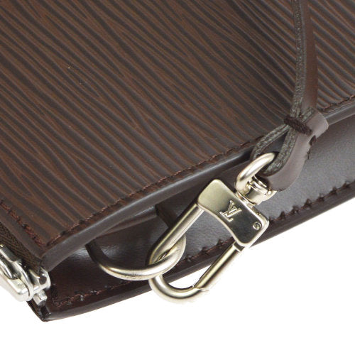 LOUIS VUITTON POCHETTE ACCESSOIRES HAND BAG POUCH BROWN EPI M5294D