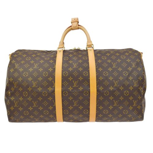 LOUIS VUITTON KEEPALL 55 BANDOULIERE TRAVEL HAND BAG MONOGRAM M41414
