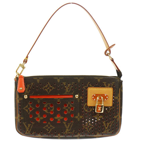 LOUIS VUITTON Pochette Accessories Pouch Monogram Perforated M95183