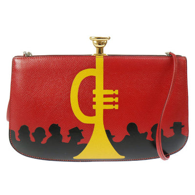 HERMES Sac A Malice Pochette Shoulder Bag Red Couchevel