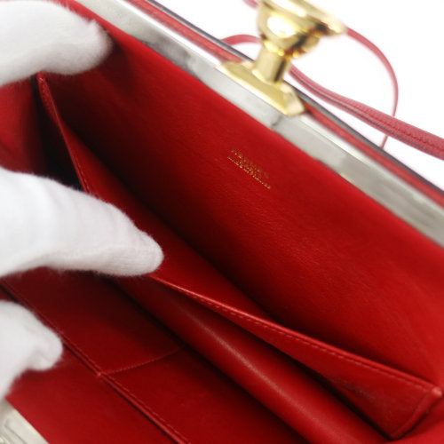 HERMES Sac A Malice Pochette Shoulder Bag Red Courchevel