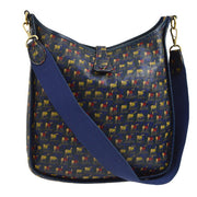 HERMES Horse Carriage Motif EVELYNE GM Shoulder Bag Navy
