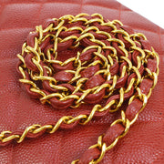 CHANEL Diana Medium Single Chain Shoulder Bag Red