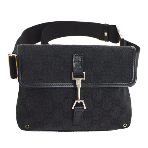 GUCCI GG Jackie Waist Bum Bag Black