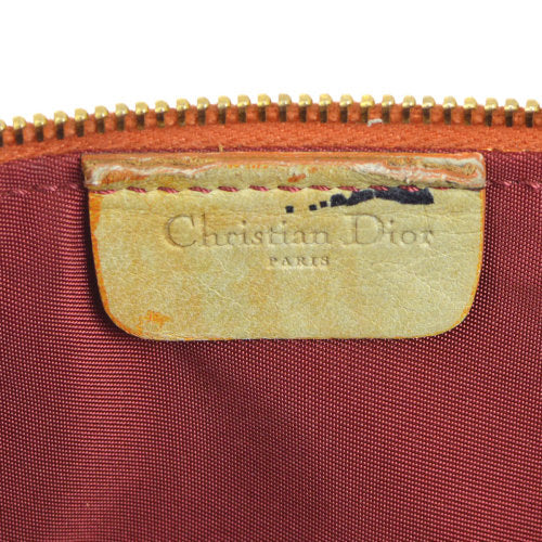 Christian Dior Saddle Hand Bag Brown Orange