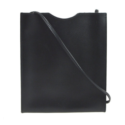 HERMES Onimaitou Pochette Cross Body Shoulder Bag Black Box Calf