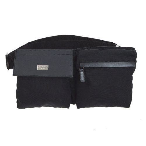GUCCI Shelly Line Waist Bum Bag Black