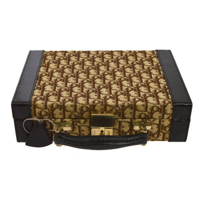 Christian Dior Trotter Mini Trunk Hard Case Brown