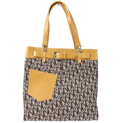 Christian Dior Trotter Hand Tote Bag Beige