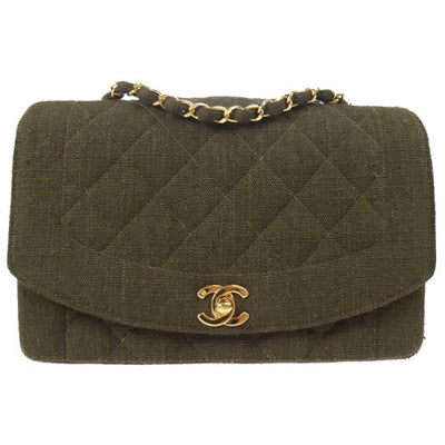 CHANEL Quilted Chain Quilted Shoulder Bag Brown