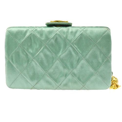 CHANEL Quilted CC Fringe Clutch Pouch