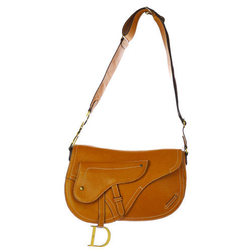 Christian Dior Saddle Cross Body Shoulder Bag Brown