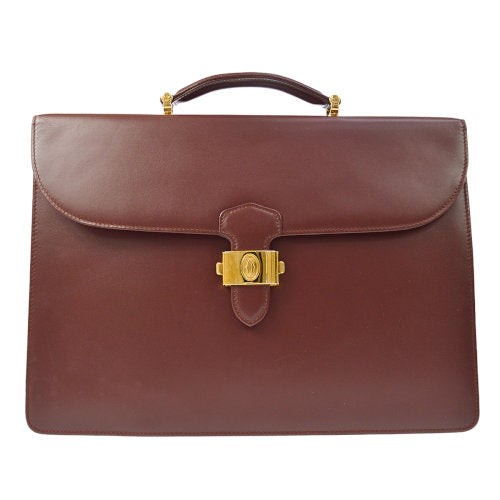 Cartier Must De Cartier Business Hand Bag Bordeaux