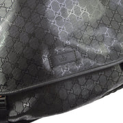 GUCCI GG Messenger Shoulder Bag Black
