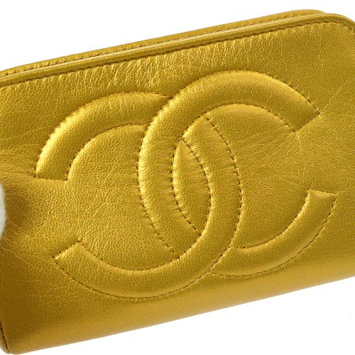 CHANEL CC Logos Mini Multi Pouch Gold