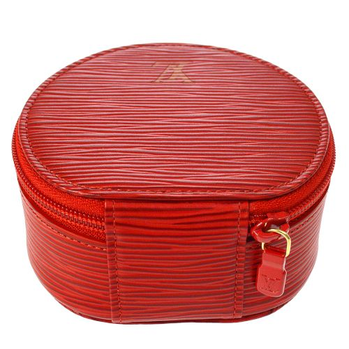 LOUIS VUITTON EPI ECRIN BIJOU JEWELRY CASE POUCH RED M48227