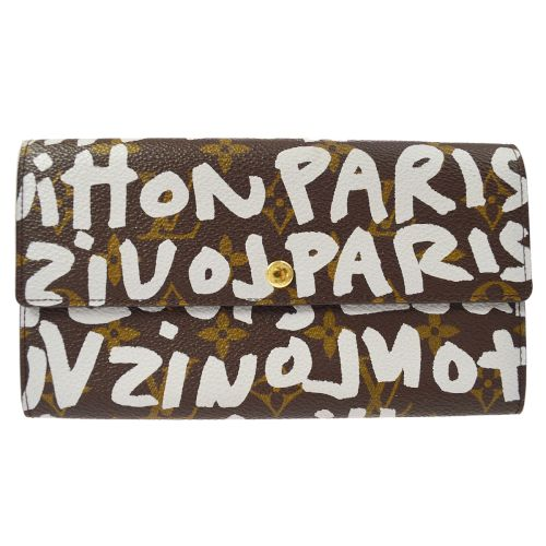 LOUIS VUITTON Monogram Graffiti Portefeuille Sarah Long Wallet MONOGRAM GRAFFITI M92189