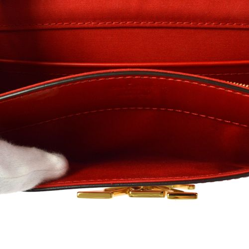 LOUIS VUITTON VERNIS PORTEFEUILLE LOUISE RED PATENT LEATHER M64550