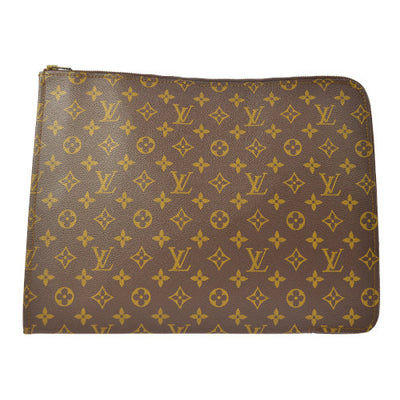 LOUIS VUITTON POCHE DOCUMENTS GM CLUTCH BAG MONOGRAM M53456