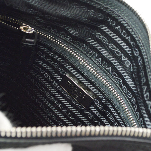 PRADA Messenger Shoulder Bag TESSUTO NERO