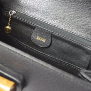 GUCCI Bamboo Line 2way Hand Bag Black