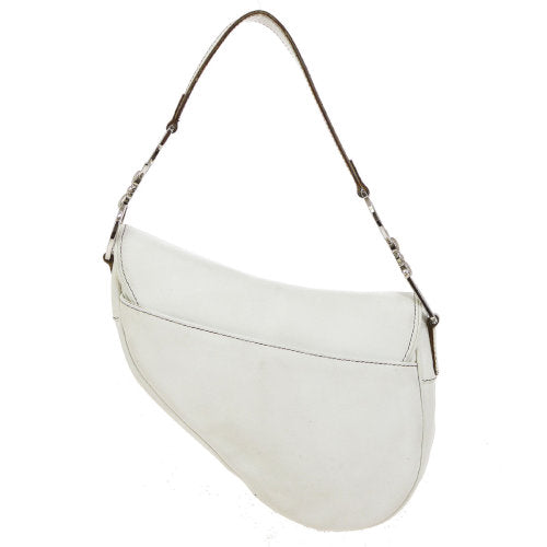 Christian Dior Saddle Hand Bag White