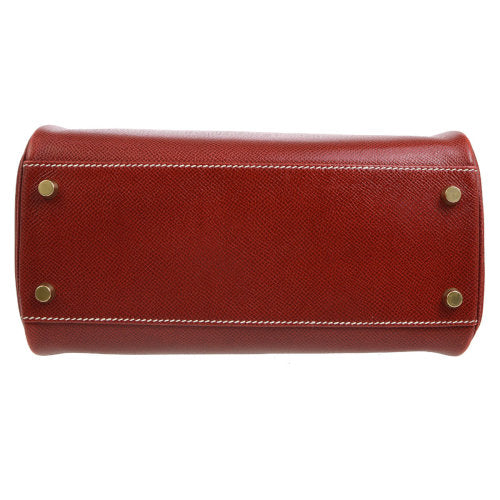 HERMES KELLY SPORT MM Shoulder Bag Red Veau Graine Lisse