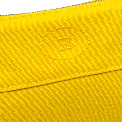 HERMES H Logos Mini Bolide Pouch Yellow