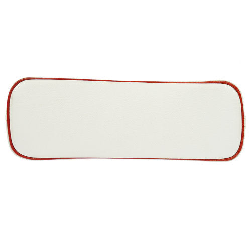 HERMES Bolide Cosmetic Pouch Bag White Red Veau Epsom