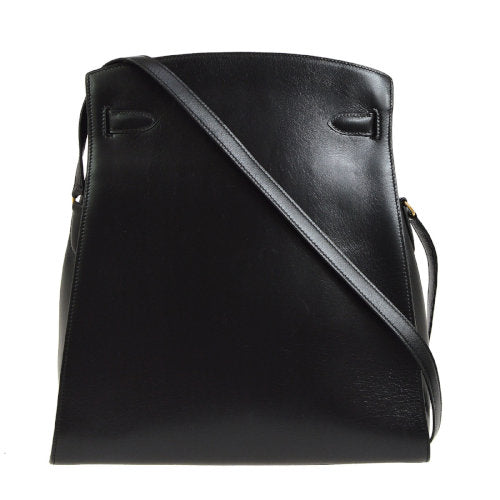 HERMES KELLY SPORT GM Shoulder Bag Black Box Calf