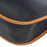HERMES EVELYNE GM Shoulder Bag Black Brown Ardennes