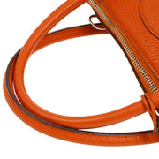 HERMES BOLIDE 31 2way Hand Bag Orange Taurillon Clemence