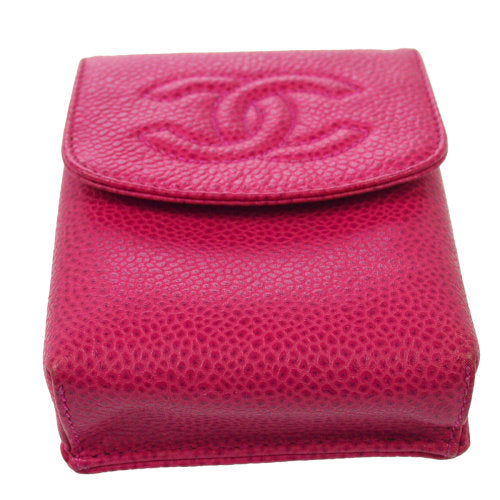 CHANEL CC Logos Cigarette Case Pink