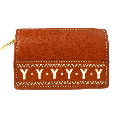 Yves Saint Laurent Coin Purse Wallet Brown
