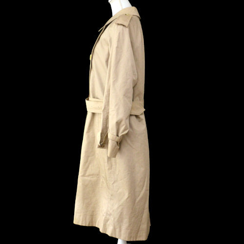 Burberry's Vintage Long Sleeve Trench Coat Jacket Beige