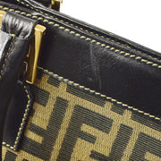 FENDI Zucca 2way Hand Bag Brown Black