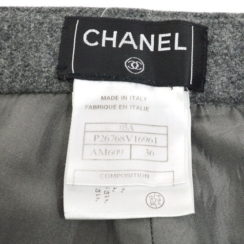 CHANEL Long Pants Gray #36 05A