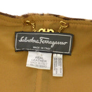 Salvatore Ferragamo Sleeveless Coat Jacket Brown