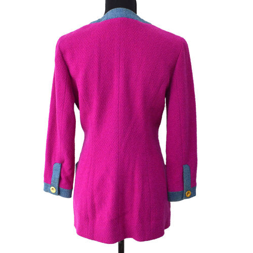 CHANEL Long Sleeve Jacket Pink #40