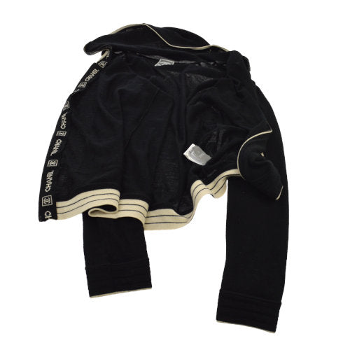 CHANEL Sports Line Long Sleeve Jacket Black #42 06A