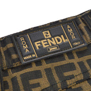 FENDI Zucca Pattern Skirt Brown