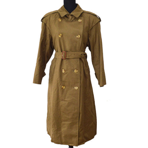 Burberry's Long Sleeve Trench Coat Jacket Brown