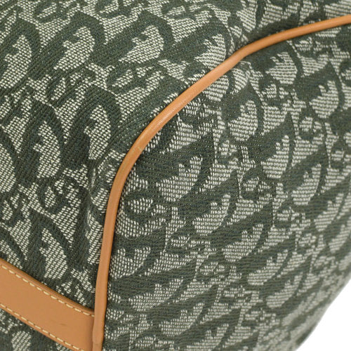 Christian Dior Trotter Boston Hand Bag Green