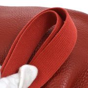HERMES Rodeo Shoulder Bag Red Traurillon