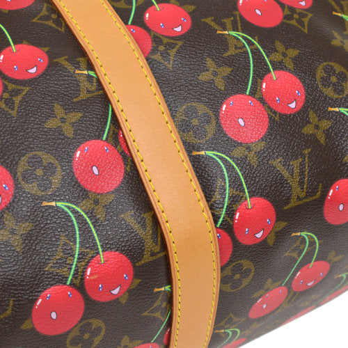 LOUIS VUITTON KEEPALL 45 HAND BAG MONOGRAM CHERRY M95011