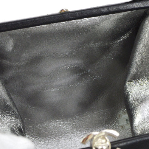 CHANEL Single Chain Shoulder Bag Black Velvet