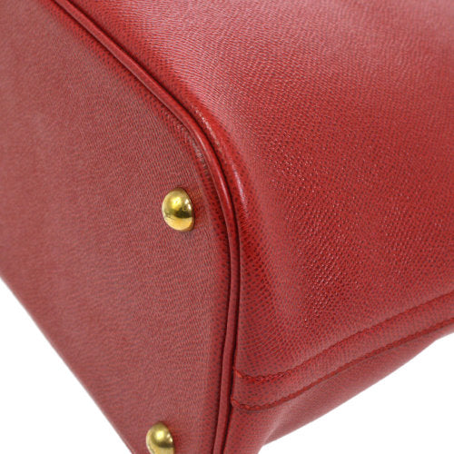 HERMES BOLIDE 35 2way Hand Bag Bi-Color Red Brown Couchevel