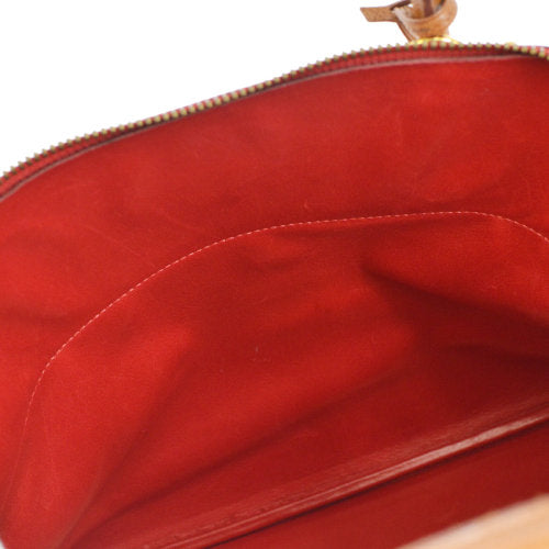 HERMES BOLIDE 35 2way Hand Bag Bi-Color Red Brown Courchevel
