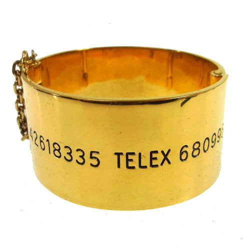 CHANEL CC Logos Bangle Gold from 1992