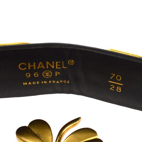 CHANEL CC Logos Buckle Belt Black 96P
